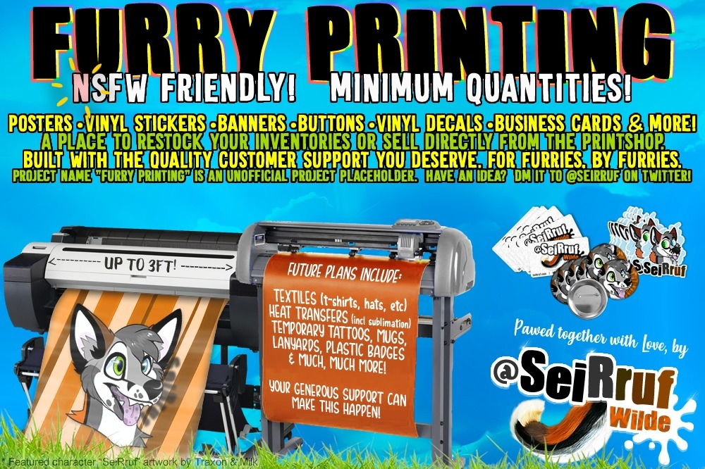 Fundraiser by SeiRruf Wilde : Custom Furry Prints - From Stickers to Apparel